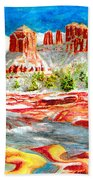 Cathedral Rock Crossing Beach Towel