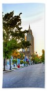 Cathedral Square Gallery On Dauphin Street Mobile Beach Towel