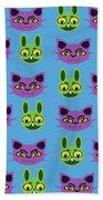 Cats And Rabbits Beach Towel