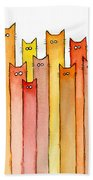 Cats Autumn Colors Beach Towel