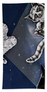 Cats In Space Beach Towel