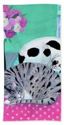 Cats In Spring Beach Towel