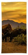 Cattle Drive 41 Beach Towel