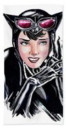 Catwoman- Markers Beach Towel