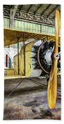 Caudron G3 Propeller And Cockpit - Vintage Beach Towel