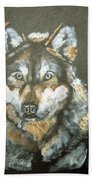 Caught In The Head Lights Beach Towel