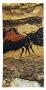Cave Art: Bison Beach Towel
