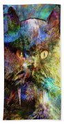 Cave Cat Beach Towel