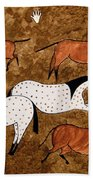 Cave Horses Beach Towel