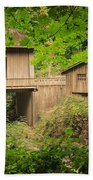 Cedar Creek Mill And Covered Bridge Beach Towel