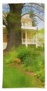 Cedar Grove In Spring Beach Towel by Nancy De Flon