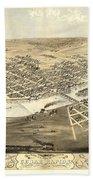 Cedar Rapids Iowa 1868 Beach Towel