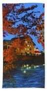 Cedarburg Mill At Night Beach Towel