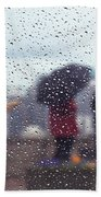 Celebration In Rain A036 Beach Towel