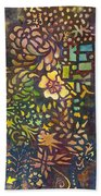 Celebration Night - 1/2 Diptych  Beach Towel