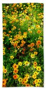 Celebration Of Yellows And Oranges Study 4 Beach Towel