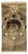 Celestial Map 1710b Beach Towel