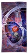 Celestial North - Fractal Art Beach Towel