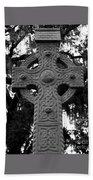 Celtic Cross In Emmet Park Beach Towel