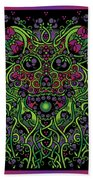 Celtic Day Of The Dead Skull Beach Towel