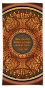 Celtic Dragonfly Mandala In Orange And Brown Beach Towel