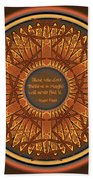 Celtic Dragonfly Mandala In Orange And Brown Beach Sheet
