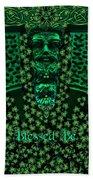 Celtic Green Man Beach Towel