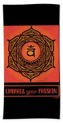 Celtic Tribal Sacral Chakra Beach Sheet