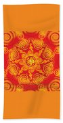 Celtic Tribal Sun Beach Towel