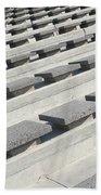 Cement Seats Beach Towel
