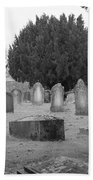 Cemetery Church Of St. Mary Wedmore Beach Towel