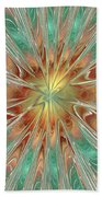 Center Hot Energetic Explosion Beach Towel
