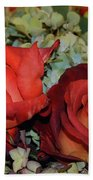 Centerpiece Roses Beach Towel