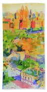 Central Park From The Carlyle Beach Towel