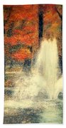 Central Park In Autumn Beach Towel