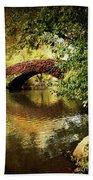 Central Park In Autumn Texture 6 Beach Sheet