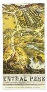 Central Park Map, Manhattan New York, 1863 Beach Sheet