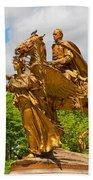 Central Park Sculpture-general Sherman Beach Towel