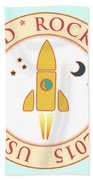 Certified Rocket Man Beach Towel