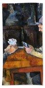 Cezanne: Card Player, C1892 Beach Sheet