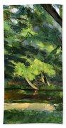 Cezanne: Etang, 1877 Beach Sheet
