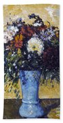 Cezanne: Flowers, 1873-75 Beach Towel