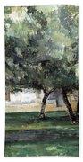 Cezanne: Le Clos Normand Beach Towel