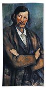 Cezanne: Man, C1899 Beach Sheet