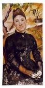 Cezanne: Mme Cezanne, 1890 Beach Towel