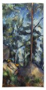 Cezanne: Pines, 1896-99 Beach Towel