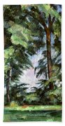 Cezanne: Trees, C1885-87 Beach Towel