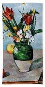 Cezanne: Tulips, 1890-92 Beach Sheet