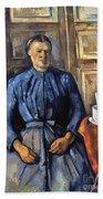 Cezanne: Woman, 1890-95 Beach Towel
