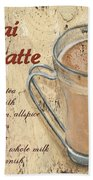 Chai Latte Beach Towel